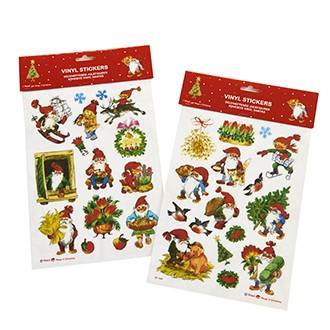 Vindue deko stickers med Julekoglenisser