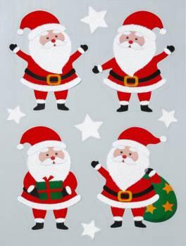 Vindue vinyl stickers glade julemænd.