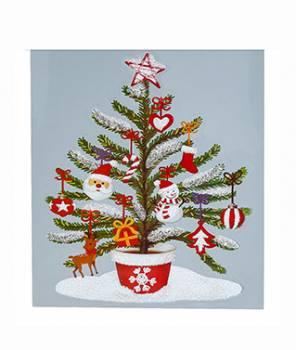 Vindue vinyl stickers juletræ med pynt