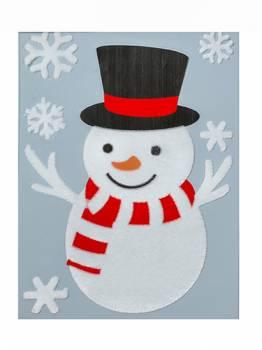 Vindue vinyl stickers snemand med hat