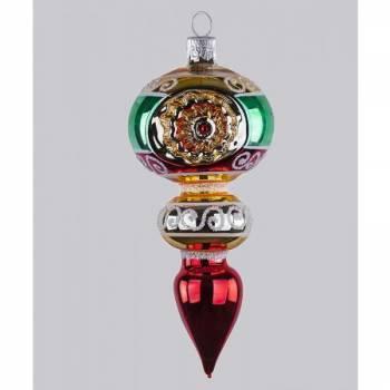 Vintage juletræs kugle spids reflektor 14 cm