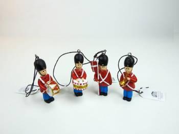 Vintage soldater med musik instrumenter