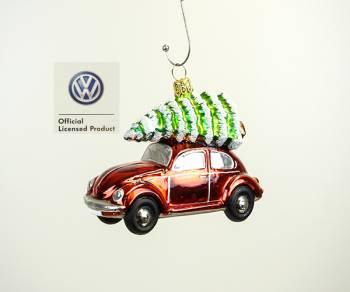 VW folkevogn med juletræ juletræskugle