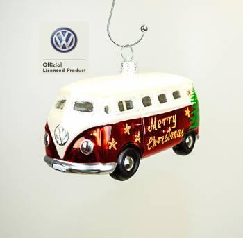 VW folkevognsbus juletræskugle med licens