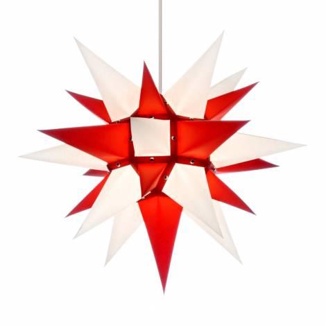 Advent stjerne rød-hvid 40 cm