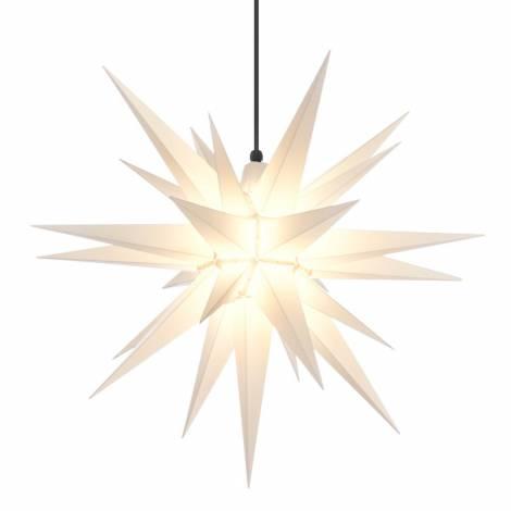 Advent stjerne udvendig hvid 68 cm