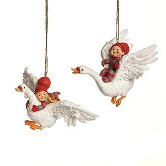 Babynisserne flyver over nissebyen