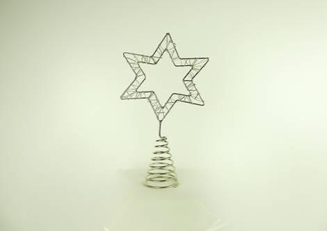 Topstjerne sølv metal