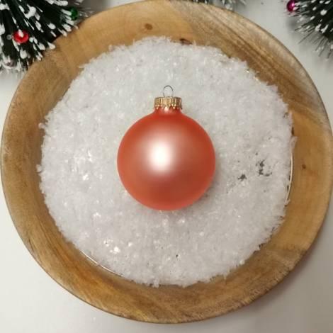 Fersken silkematte glas juletræskugler Ø 6.7 cm