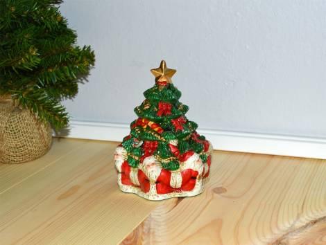 Flot juletræ med julemænd til fyrfadslys