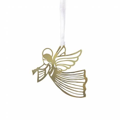Flyvende guld engle i metal