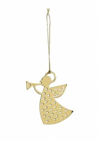 Guld engle med trompet 6 cm