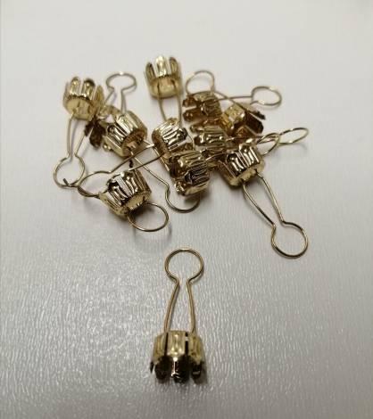 Guld hætter til juletræskugler 10 mm