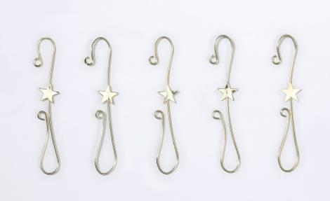 Guld kroge med stjerne til juletræskugler