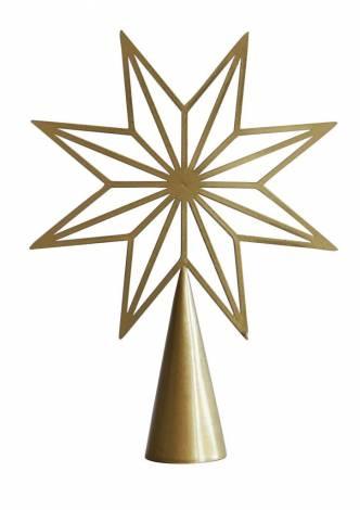 Guld stjerne topstjerne 20 cm