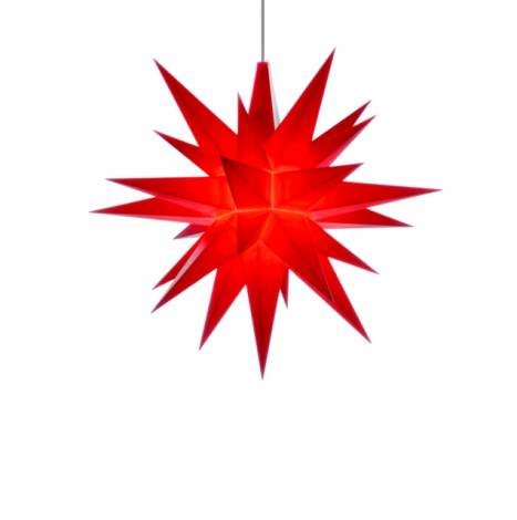 Advent rød 13 cm Herrnhuter stjerne