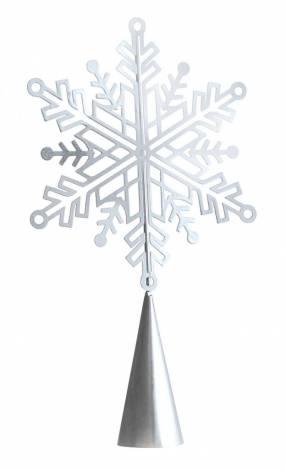 Sølv snefnug topstjerne 20 cm