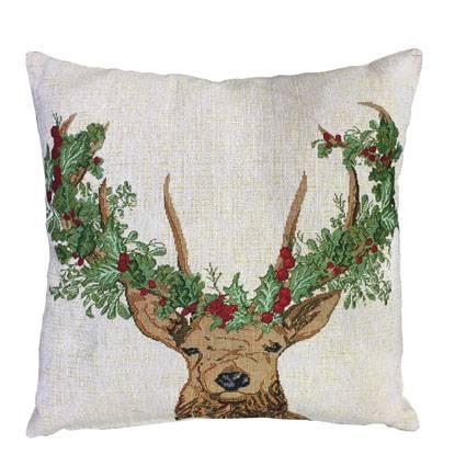 Jule hjort pude 42 x 42 cm
