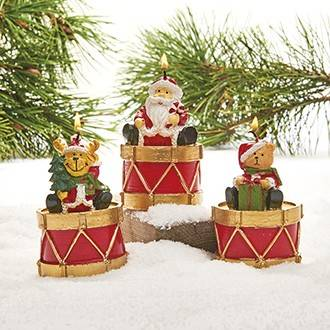 Julelys julemand - bamse - rensdyr på tromme