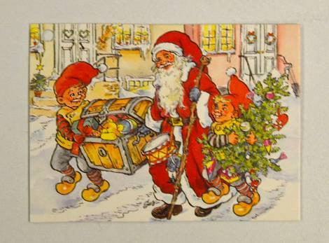Julemand enkelt til og fra kort