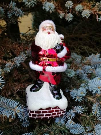 Julemand på skorsten juletræs spir 21 cm