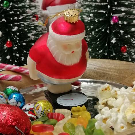 Julemand har taget på i vægt juletræskugle  10 cm