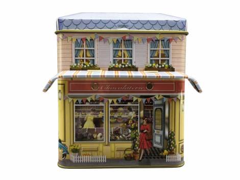Julens chokoladehus kagedåse
