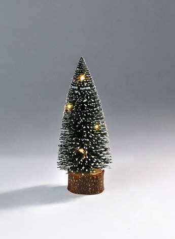 Juletræ grøn 20 cm med led lys