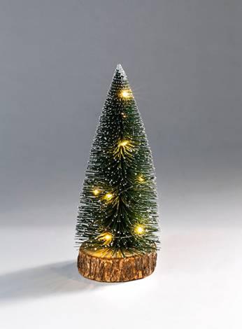Juletræ grøn 25 cm med led lys