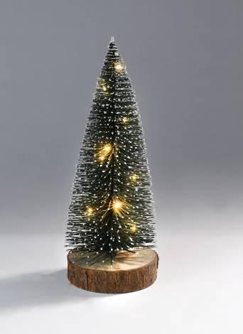 Juletræ grøn 30 cm med led lys