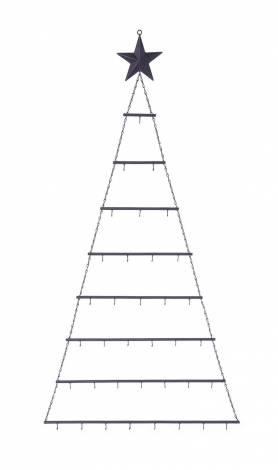 Juletræ med stjerne vægophæng til julekugler