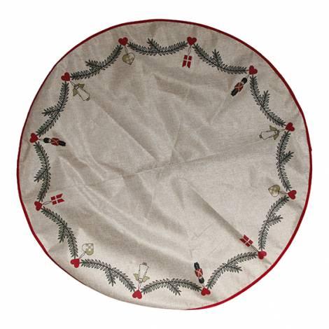 Juletræstæppe ranke med ornamenter