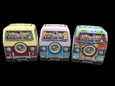 Mini autocamper kagedåse i rosa