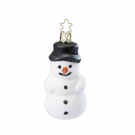 Munter snemand juletræskugle 8 cm