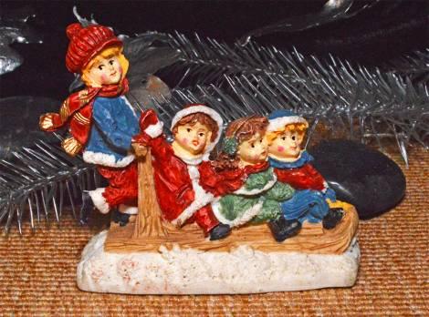 Peters jul serie børn på slæde
