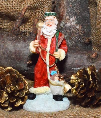 Peters jul serie julemand med dukke i kåben
