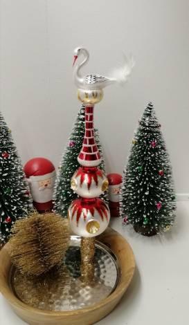 Reflektor juletræspir med stork på toppen