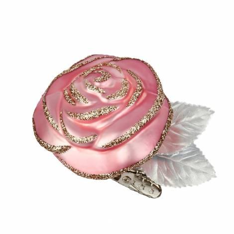 Rosa rose juletræskugle Ø 5.5 cm
