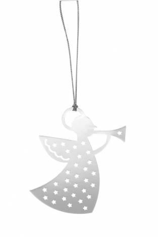 Sølv engle med trompet 6 cm