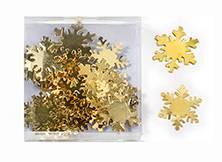 Snefnug guld metal til dekoration