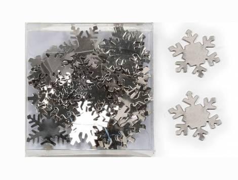 Snefnug sølv metal til dekoration