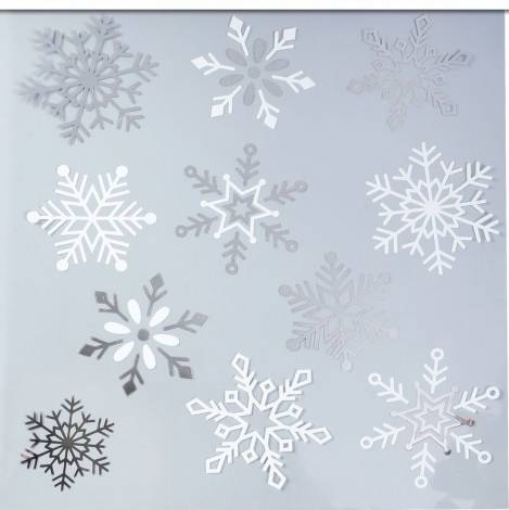 Snefnug vindue stickers
