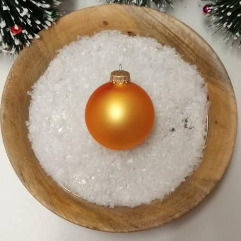Sol guld silkematte glas juletræskugler Ø 6.7 cm