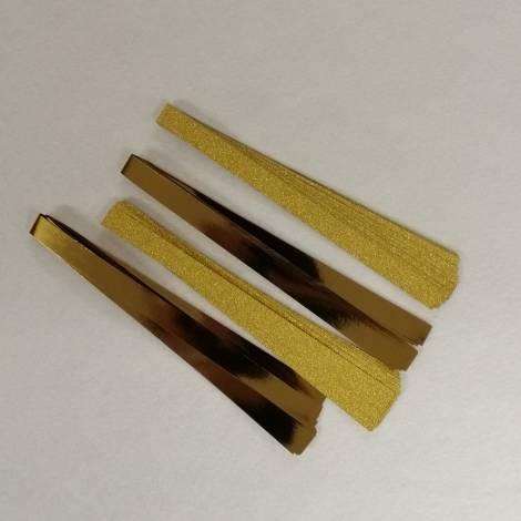 Stjerne strimler guld effekt 15 mm