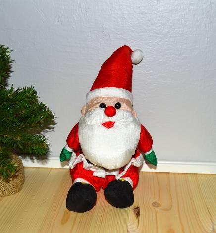 Stor blød polyester julemand