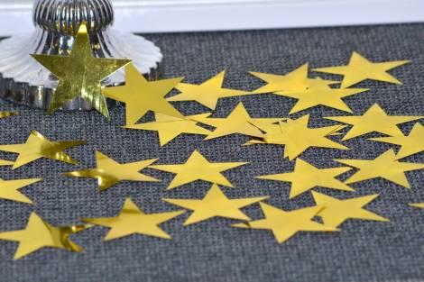 Store guld metal stjerner fra Torslow.