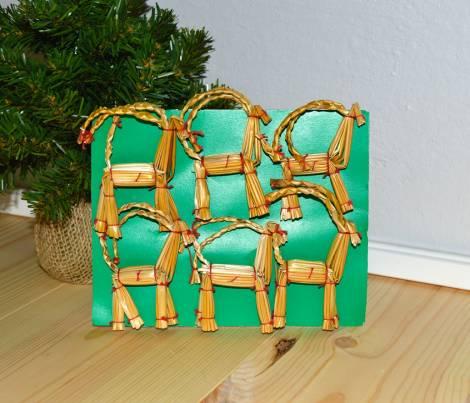 Strå julebukke ornament