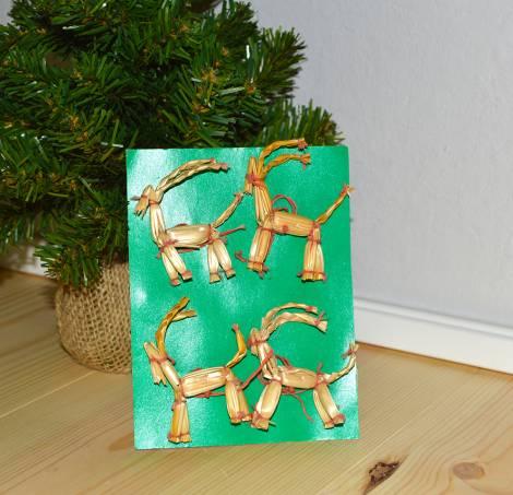 Strå julebukke ornamenter