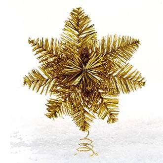 Topstjerne guld Ø 25 cm