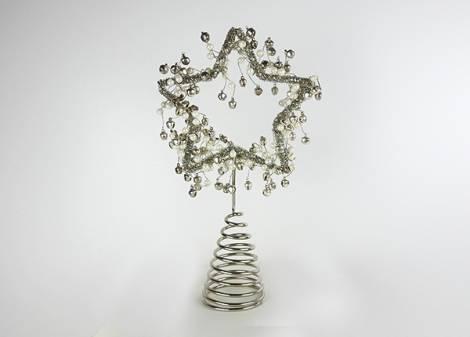 Topstjerne med sølv bjælder metal